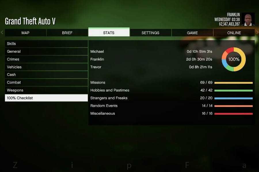 سیو بازی GTA V