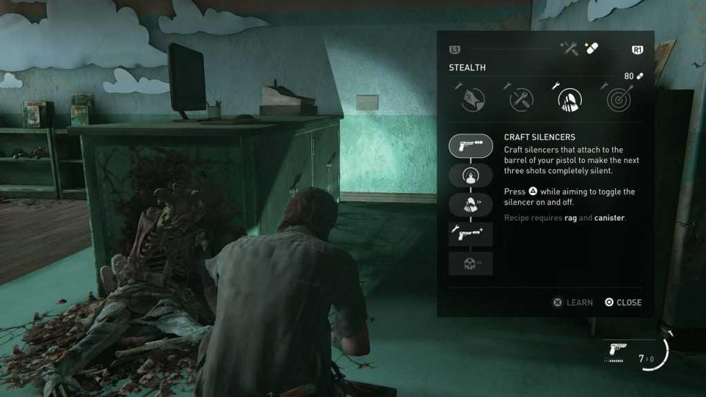 Silencer بازی The Last of Us 2