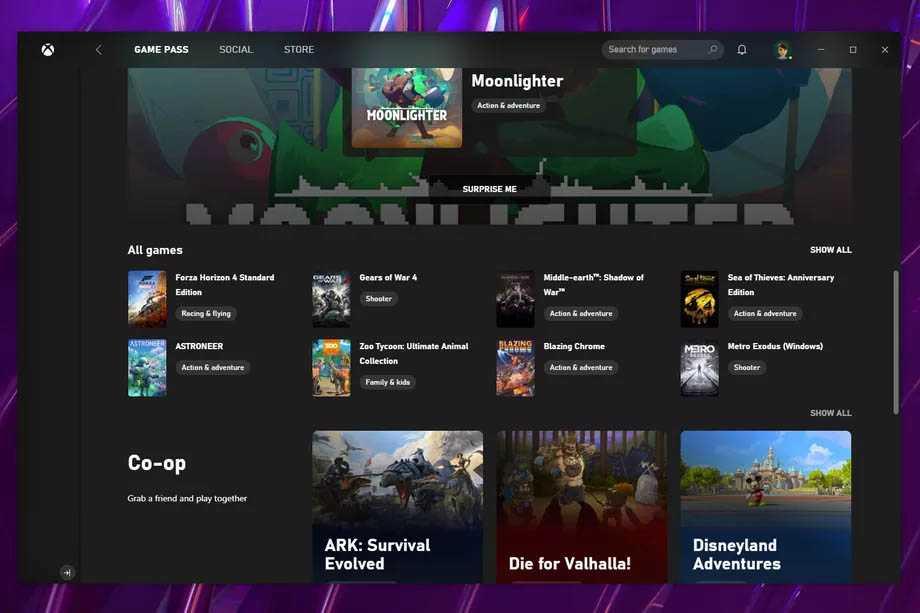 سرویس Xbox Game Pass روی ویندوز 10