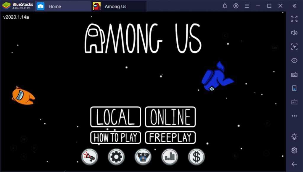 اجرا بازی Among Us روی برنامه BlueStacks