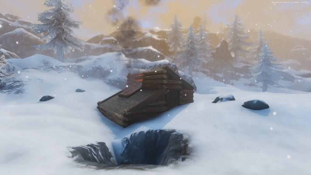 نمایی از خانهها در بازی Velheim