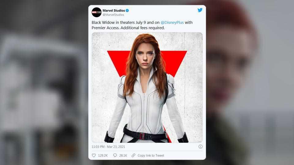 توییت مارول در مورد تاخیر در اکران فیلم Black Widow