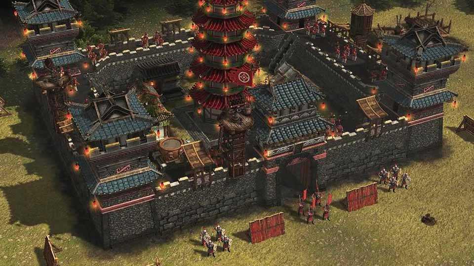 تصویری از یک قلعه در بازی Stronghold: Warlords